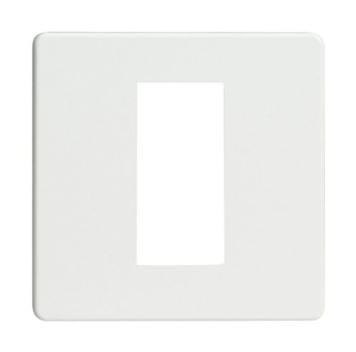 Varilight XDQG1S Screwless Premium White DataGrid Plate (1 DataGrid Space)